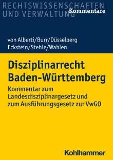 Dieter von Alberti: Disziplinarrecht Baden-Württemberg, Buch