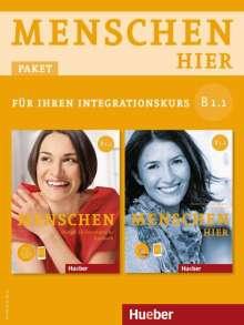 Julia Braun-Podeschwa: Menschen hier B1/1. Paket: Kursbuch mit DVD-ROM und Arbeitsbuch mit Audio-CD, Diverse