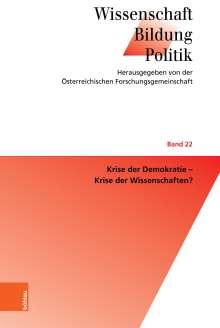 Krise der Demokratie - Krise der Wissenschaften?, Buch
