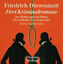 Friedrich Dürrenmatt: Drei Kriminalromane, CD