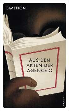 Georges Simenon: Aus den Akten der Agence O, Buch