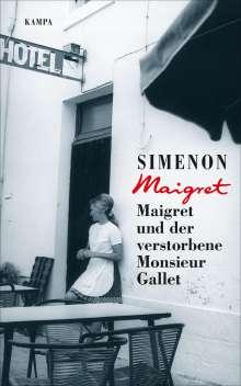 Georges Simenon: Maigret und der verstorbene Monsieur Gallet, Buch