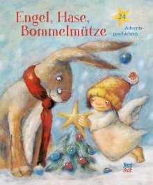 Engel, Hase, Bommelmütze, Buch