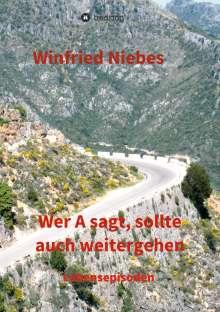 Winfried Niebes: Wer A sagt, sollte auch weitergehen, Buch