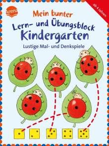 Friederike Barnhusen: Mein bunter Lern- und Übungsblock Kindergarten. Lustige Mal- und Denkspiele, Buch