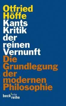 Otfried Höffe: Kants Kritik der reinen Vernunft, Buch