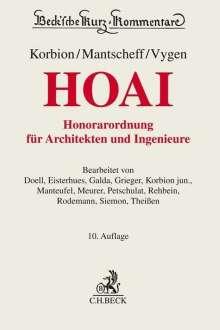 Hermann Korbion: Honorarordnung für Architekten und Ingenieure (HOAI), Buch