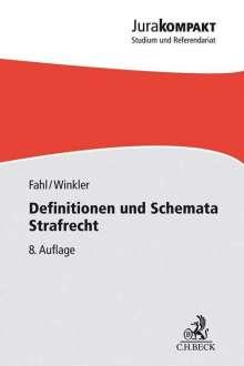 Christian Fahl: Definitionen und Schemata Strafrecht, Buch