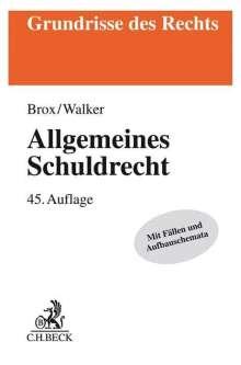 Hans Brox: Allgemeines Schuldrecht, Buch
