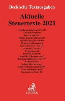 Aktuelle Steuertexte 2021, Buch