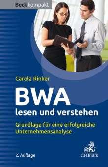 Carola Rinker: BWA lesen und verstehen, Buch