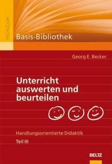 Georg E. Becker: Unterricht auswerten und beurteilen, Buch