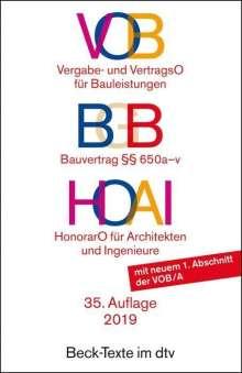 VOB / BGB Bauvertrag / HOAI, Buch
