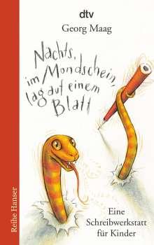 Georg Maag: Nachts, im Mondschein, lag auf einem Blatt, Buch