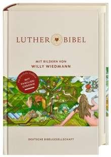Lutherbibel mit Bildern von Willy Wiedmann, Buch
