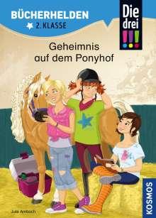 Jule Ambach: Die drei !!!, Bücherhelden, Geheimnis auf dem Ponyhof, Buch