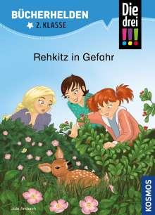 Jule Ambach: Die drei !!!, Bücherhelden 2. Klasse, Rehkitz in Gefahr, Buch