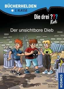 Ulf Blanck: Die drei ??? Kids, Bücherhelden 2. Klasse, Der unsichtbare Dieb, Buch