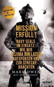 Mark Owen: Mission erfüllt, Buch