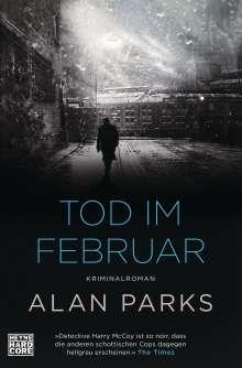 Alan Parks: Tod im Februar, Buch