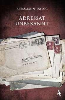 Kathrine Kressmann Taylor: Adressat unbekannt, Buch