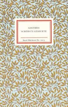 Johann Wolfgang von Goethe: Goethes schönste Gedichte, Buch