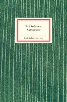 Ralf Rothmann: Gethsemane, Buch