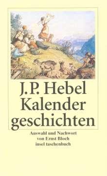 Johann Peter Hebel: Kalendergeschichten, Buch