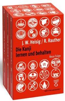 James W Heisig: Die Kanji lernen und behalten Bände 1 bis 3. Neue Folge, 3 Bücher