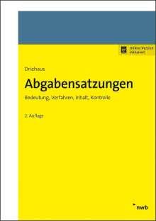 Hans-Joachim Driehaus: Abgabensatzungen, 1 Buch und 1 Diverse