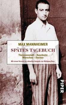 Max Mannheimer: Spätes Tagebuch, Buch