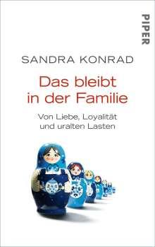 Sandra Konrad: Das bleibt in der Familie, Buch