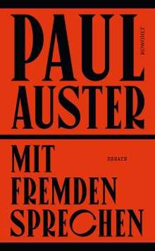 Paul Auster: Mit Fremden sprechen, Buch
