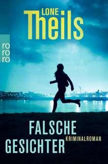 Lone Theils: Falsche Gesichter, Buch