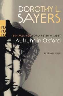 Dorothy L. Sayers: Aufruhr in Oxford, Buch