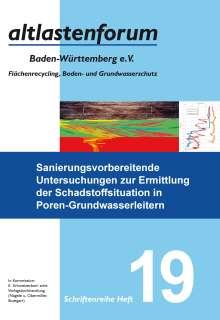 Sanierungsvorbereitende Untersuchungen zur Ermittlung der Schadstoffsituation in Poren-Grundwasserleitern, Buch