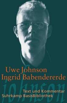 Uwe Johnson: Ingrid Babendererde, Buch