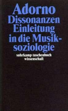 Theodor W. Adorno: Dissonanzen. Einleitung in die Musiksoziologie, Buch