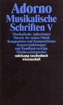 Theodor W. Adorno: Musikalische Schriften 5, Buch