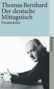 Thomas Bernhard: Der deutsche Mittagstisch, Buch