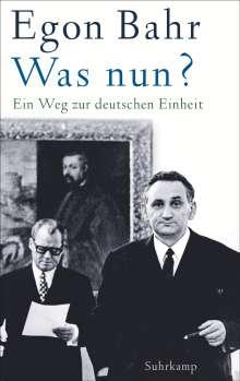 Egon Bahr: Was nun?, Buch