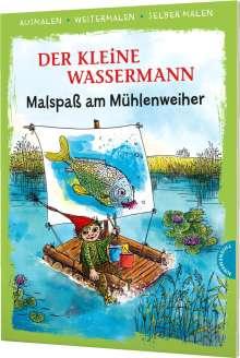 Otfried Preußler: Der kleine Wassermann. Malspaß am Mühlenweiher (Ausmalen, weitermalen, selber malen), Buch