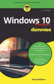 Andy Rathbone: Windows 10 kompakt für Dummies, Buch