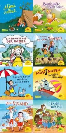 Miriam Cordes: Pixi Bundle 8er Serie 268: In die Ferien mit Pixi (8x1 Exemplar), 8 Bücher