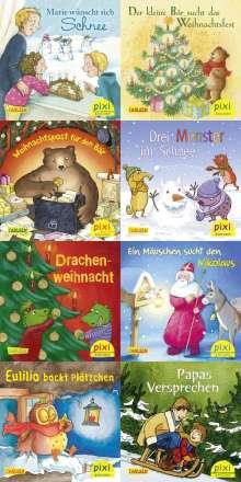 Pixi-Weihnachts-8er-Set 35: Kling, Pixi, klingelingeling (8x1 Exemplar), Buch