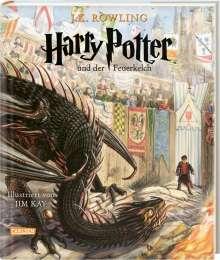 J. K. Rowling: Harry Potter und der Feuerkelch (farbig illustrierte Schmuckausgabe) (Harry Potter 4), Buch