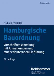 Michael Munske: Hamburgische Bauordnung, Buch