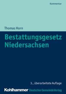 Thomas Horn: Bestattungsgesetz Niedersachsen, Buch