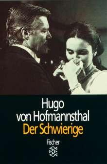 Hugo von Hofmannsthal: Der Schwierige, Buch