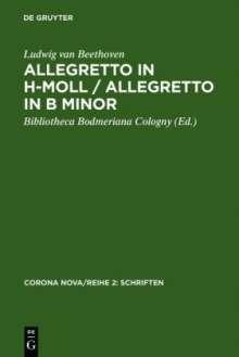 Ludwig van Beethoven: Allegretto in h-Moll / Allegretto in B minor, Buch